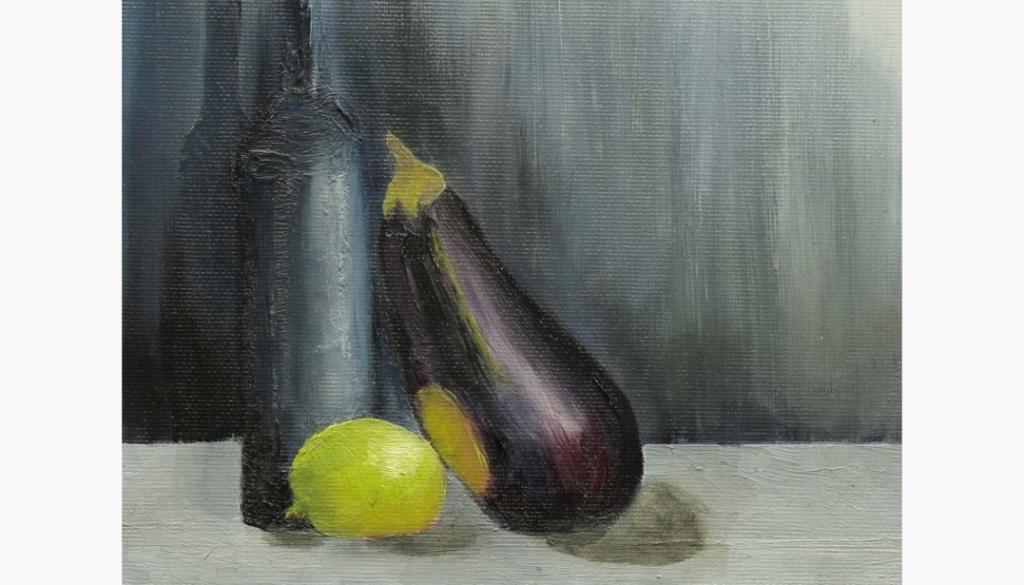 132 Still Life With Aubergine by Marnie Watson