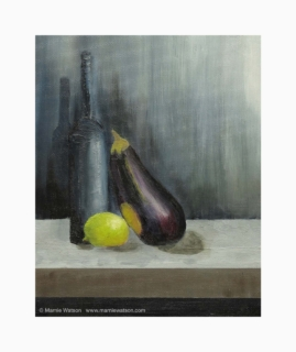 132 Still Life With Aubergine by Marnie Watson