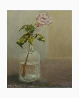 133 Rose In Bottle by Marnie Watson