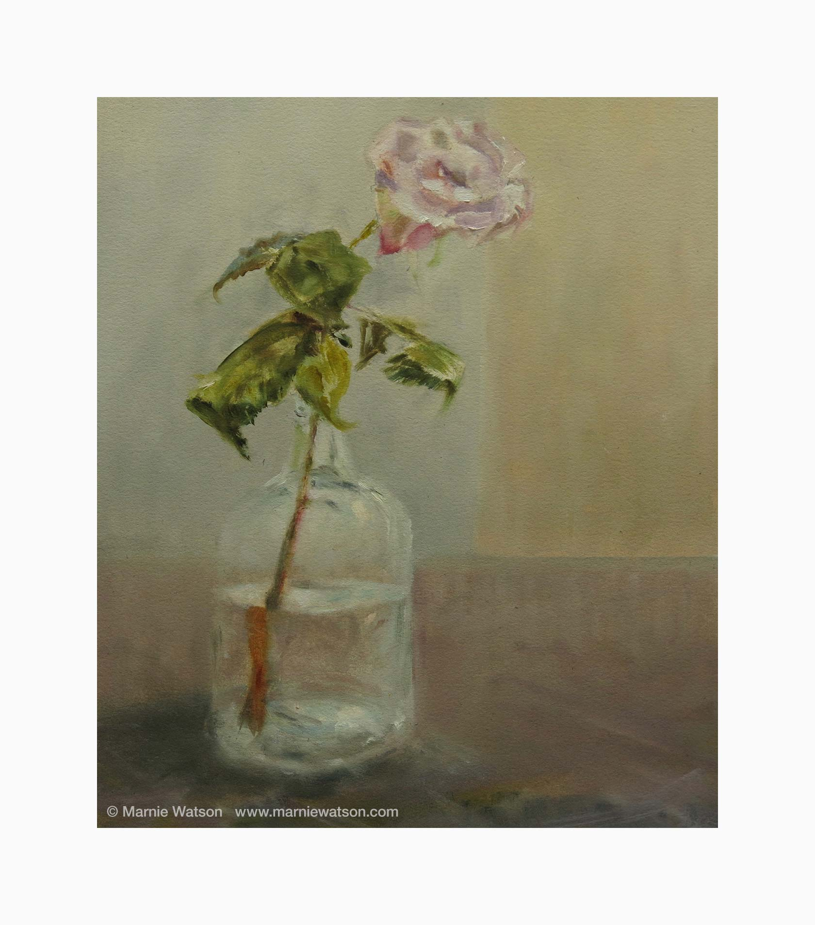133 Rose In Bottle by Marnie Watson