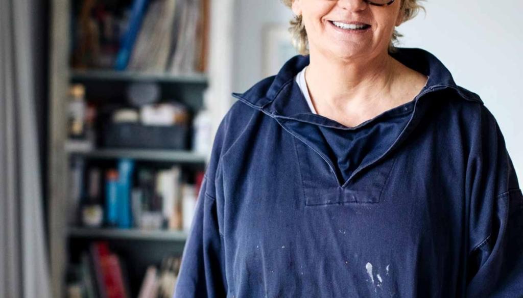 Marnie Watson in her studio